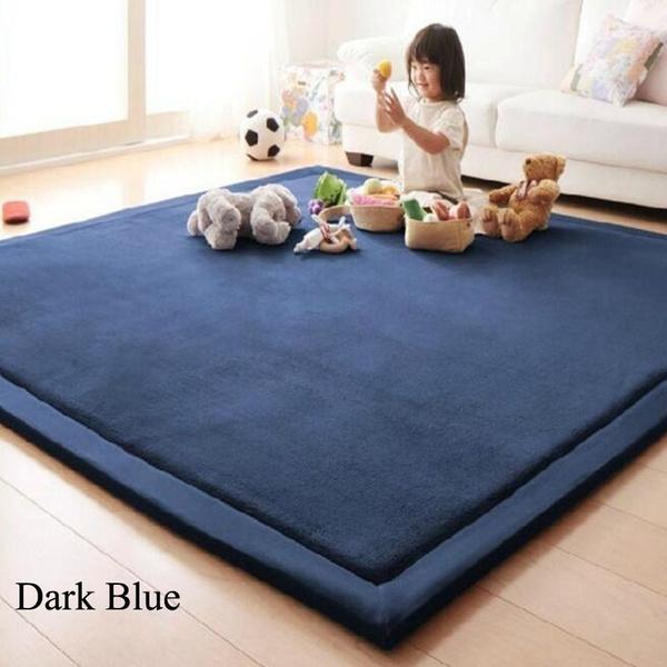 Wish | Thick Floor Rugs Tatami Mat Family Kids Play Mats Living Room Coral  Fleece Carpet Children Christmas Gift
