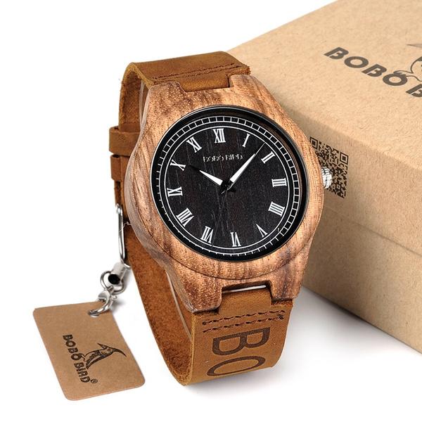 c35cd01b1af Compre Bobo Bird De Madeira Relógio De Quartzo Com Pulseira De Couro ...