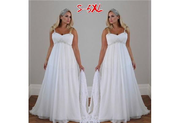 White Wedding Dress Sleeveless Maxi Party Dress Elegant Women Evening Dress Plus Size WZB9449