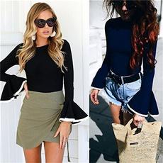 blouse, Fashion, tunic, lotusleafsleeve
