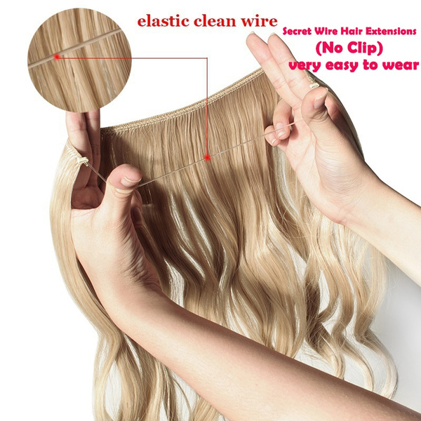 Wish Women Fashion Soft Curlystraight Clip In Hair Extensions Or