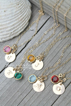 birthstonenecklace, Bridesmaid, Jewelry, Gifts