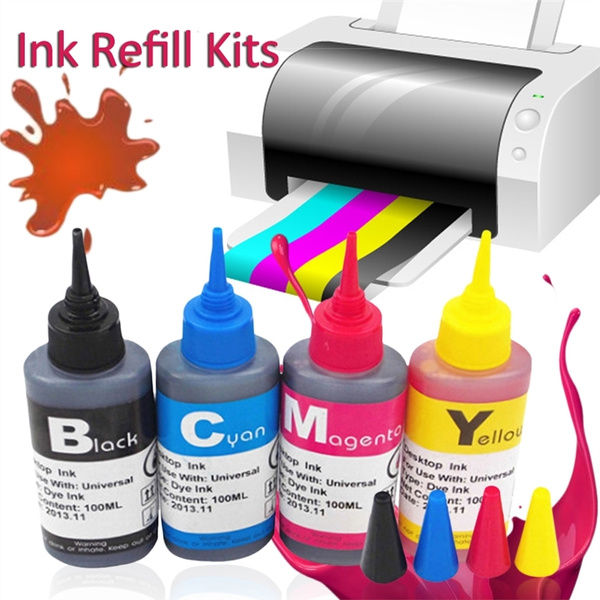 100ML Ink Cartridge Refill Replacement Kits for Epson HP Canon Brother  Inkjet Printer