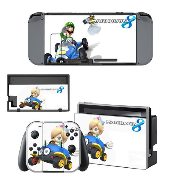 Protective Decal Mario Kart 8 Deluxe Console Joycon Controller For Nintendo Switch