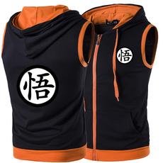Vest, hooded, Stitching, sungoku