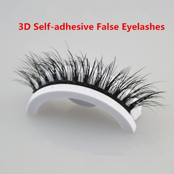 a8d376b5a8f hOT 2018 Self-adhesive False Eyelashes Natural Curly Thick Pre-glued ...