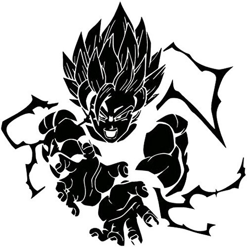 Dragon Ball Z Vegeta Blue Sticker Vinyl Sign Comic DBZ super saiyans d.
