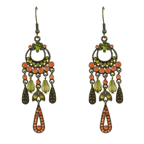 Antique, Jewelry, vintage earrings, colorfulearring