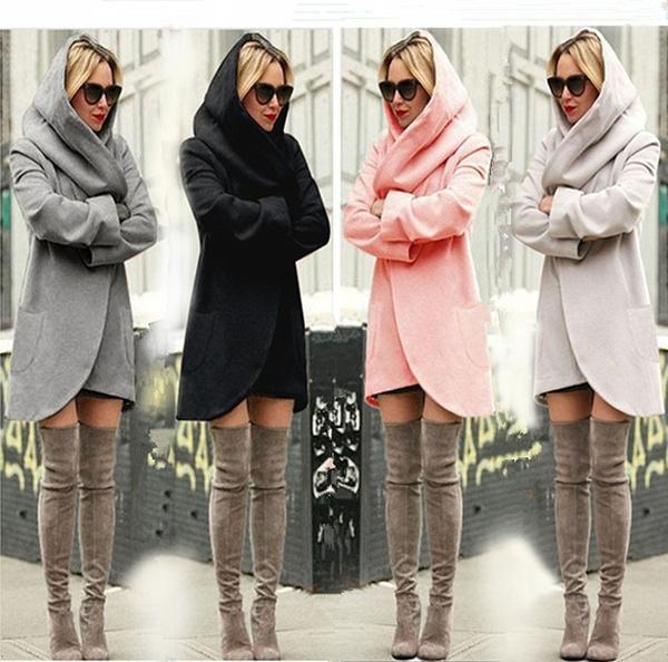 woolen, Jacket, hooded, Winter