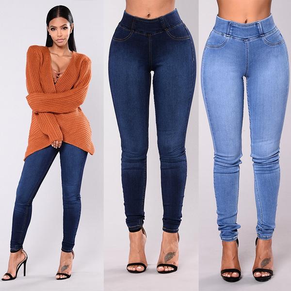 0b950279d152 Women's Fashion Autumn Winter trendy Warm Skinny Pants Leggings ...