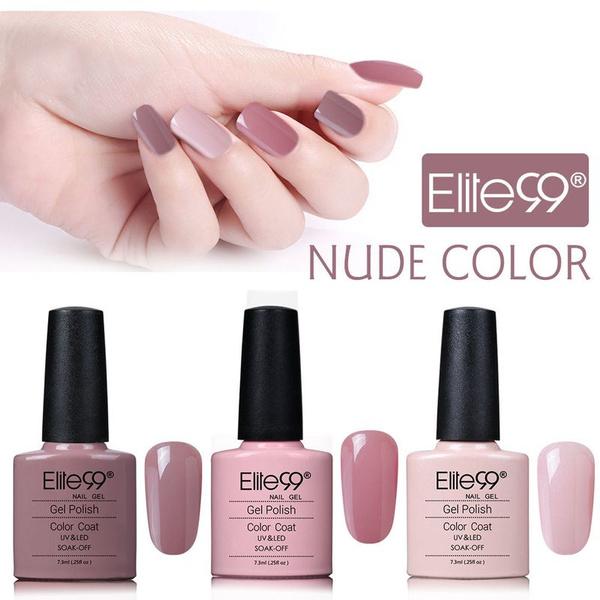 Elite99 3pcs/set Nude Beige Color Nail Gel Varnish Soak Off UV LED ...