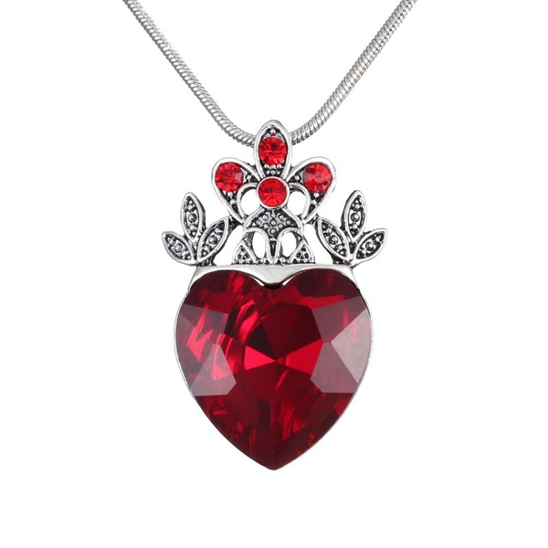 Valentine S Day Evie Necklace Descendants Red Heart Crown Queen Of Hear