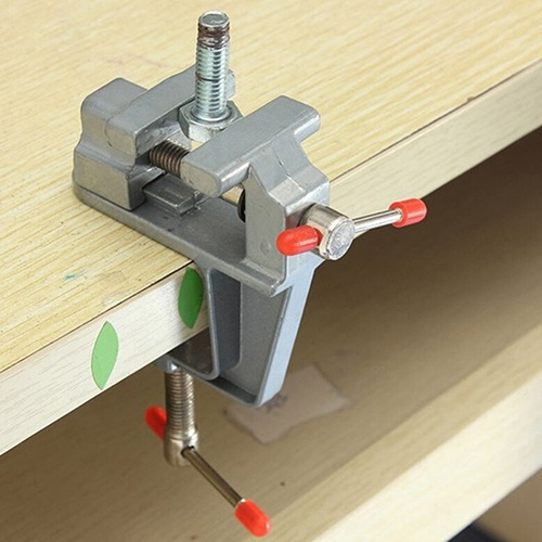 """36mm 3.5/"""" Mini Vise Tool Aluminum Small Jewelers Hobby Clamp On Table Bench Vice"""