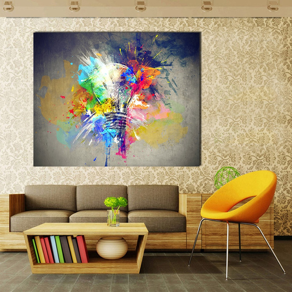 Canvas Art Oil Painting Light Colorful