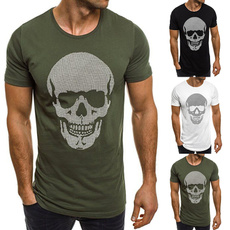 Fashion, Shirt, skull, Tops