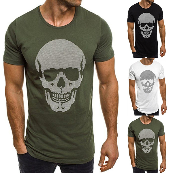 Fashion, Shirt, skull, Tops