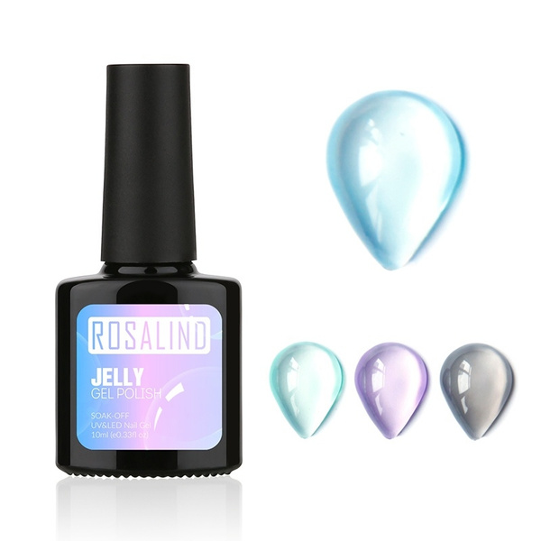 Clear Jelly Gel Nail Lacquer With Brush Semi Transparent