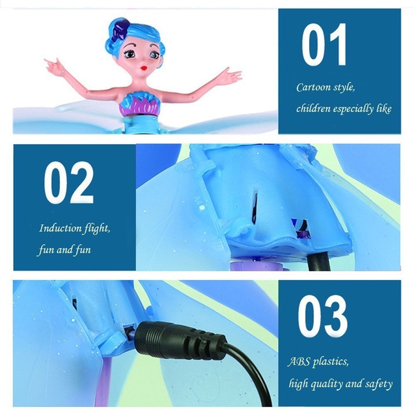 Flying Fairy Doll Hand Infrared Induction Control Dolls Child Fly Toy Gift