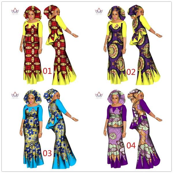 1d373d1e8b African Women 2 Piece Set Dashiki Cotton Print Wax Crop Top and ...