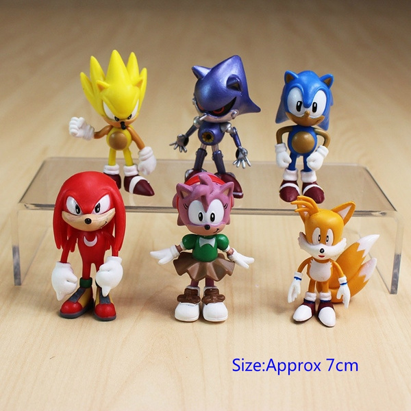6pcs Set 7cm Sonic The Hedgehog Figures Toy Pvc Toy Sonic Shadow Tails Characters Figure Toy Wish