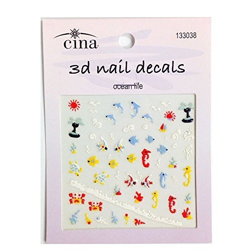 Under The Sea 3 D Nail Art Decals By Cina Nail Creations Wish