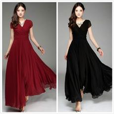 Waist, chiffon, long dress, Evening Dress