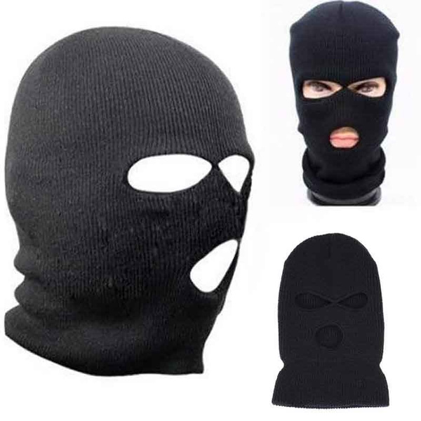 3 Hole Ski Mask Beanie 3 Hole Knitted Cap Hat Warm Face Winter Snow Men Women