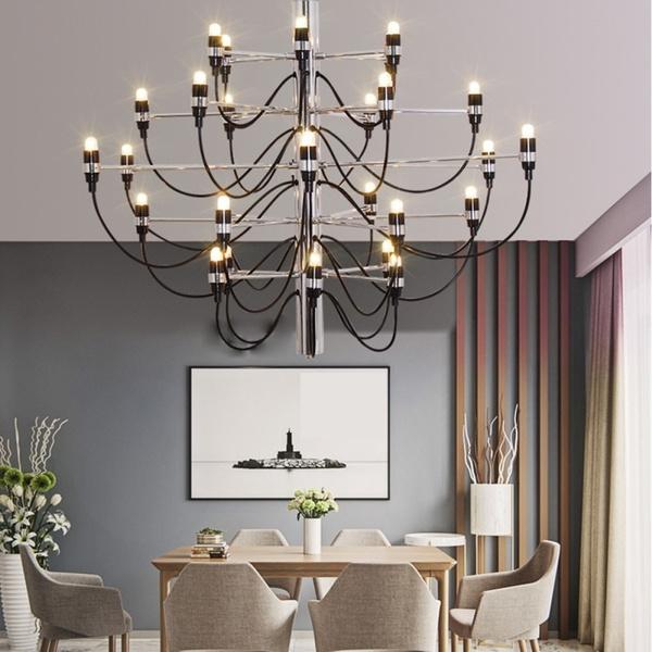 Wish Prodotto Caldo Gino Sarfatti Designed 2097 Chandelier 30 Bulbs Lights Living Room Pendant Light No Bulb