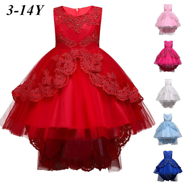 837c0e2ad197f Girls wedding dress Kids embroider Party Dress Children Pageant Evening  Dresses Party Gowns Ball Gown Prom Dresses 3-14years