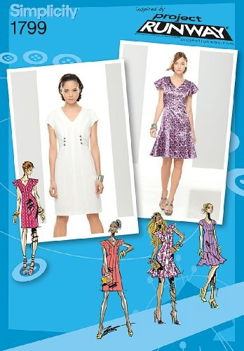 Wish Simplicity Project Runway Collection 1799 Misses Dresses