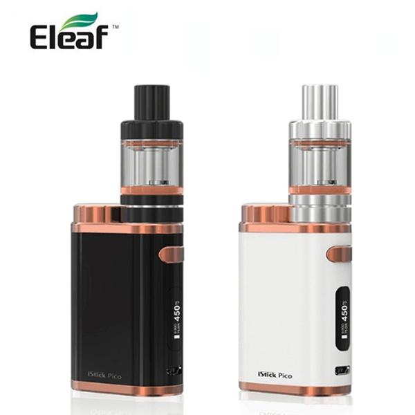 eleaf istick pico kit with 75w electronic box mod 2ml /4ml atomizer mini  vaporizer elektronik sigara e sigaret istick pico