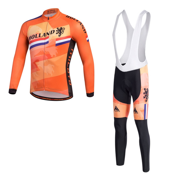 Holland Pro Radtrikot Langarm Und Tragerhose Set Team Mtb Fahrradbekleidung Herbst Neue Ankunft Ciclismo Fahrrad Kleidung Wish