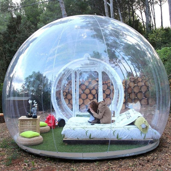 Wish | New Transparent Bubble Tent Inflatable Outdoor Bubble House Tent C&ing Crystal Tent & Wish | New Transparent Bubble Tent Inflatable Outdoor Bubble House ...