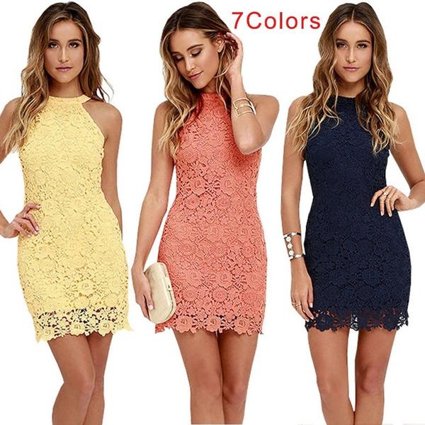 clubparty, Lace Dress, halter dress, Cocktail