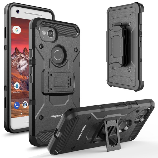 save off c51cd 56a5e Google Pixel 2 XL Case,Pixel 2 Case,Belt Clip Kickstand Shockproof Holster  Durable Rugged Armor Case for Google Pixel 2