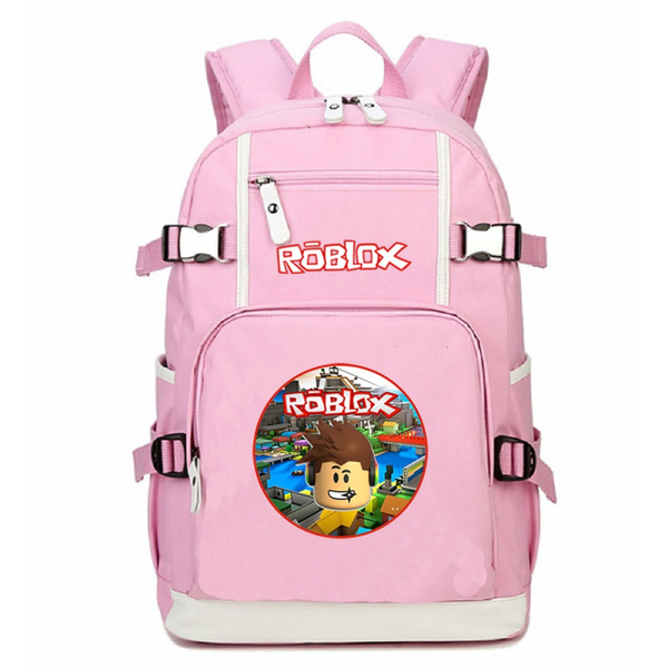 Pink Roblox Student School Bags Girl Backpack Rucksacks Travel Shoulder Bag - pink roblox girls