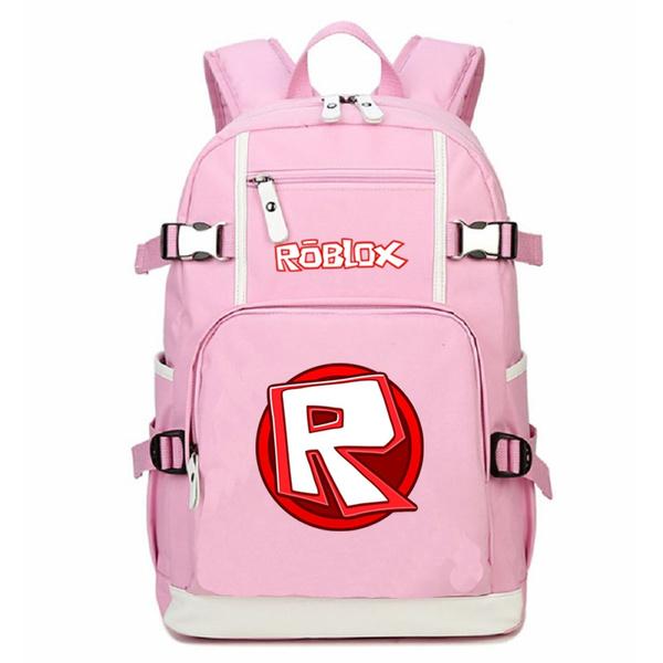 Pink Roblox Student School Bags Girl backpack Rucksacks travel Shoulder Bag