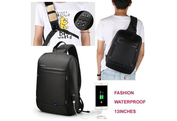 Kingsons High Capacity Chest Bag For Men/&Female Canvas Sling Bag Casual Crossbod