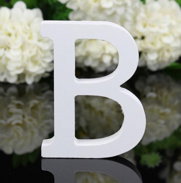 Wish Wooden Home Decor Letters Alphabet Wedding Birthday White