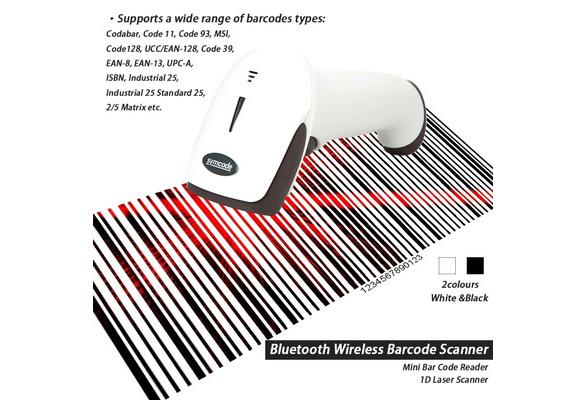 MJ-6709B Bluetooth Wireless Barcode Scanner Mini Bar Code Reader 1D Laser  Scanner