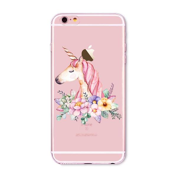Cute Unicornio TPU Back Cover Rainbow licorne Cases Cartoon Unicorn  Transparent Case For Apple iPhone 5 5s SE 5C 6 6s 6plus 6splus 7 7plus X 8  8plus
