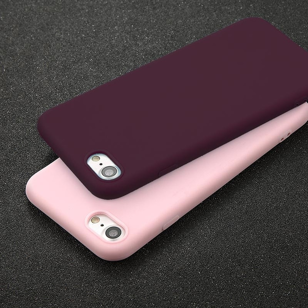 wholesale dealer 6f811 160c7 Phone Case For iPhone 5 5s SE 6 6s 7 8 Plus X Simple Solid Color Ultrathin  Soft TPU Cases Fashion Candy Color Back Cover Capa