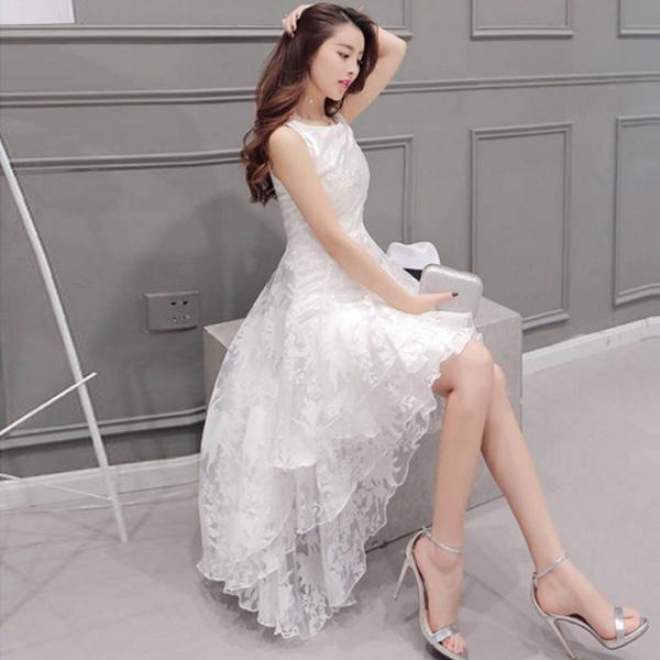 Wish | Summer Maxi Dress Women O-Neck Sleeveless Sweet Ball Gown ...