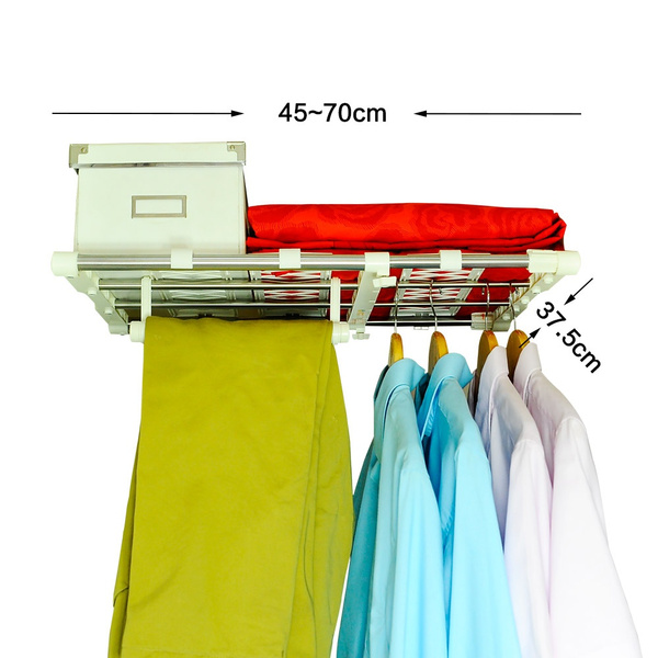 Wish | Baoyouni Expandable Closet Shelf Adjustable Storage Rack Shelves  Separator Layered Organizer Divider Holder Clothes Hanger Rod For Kitchen  Cupboard, ...