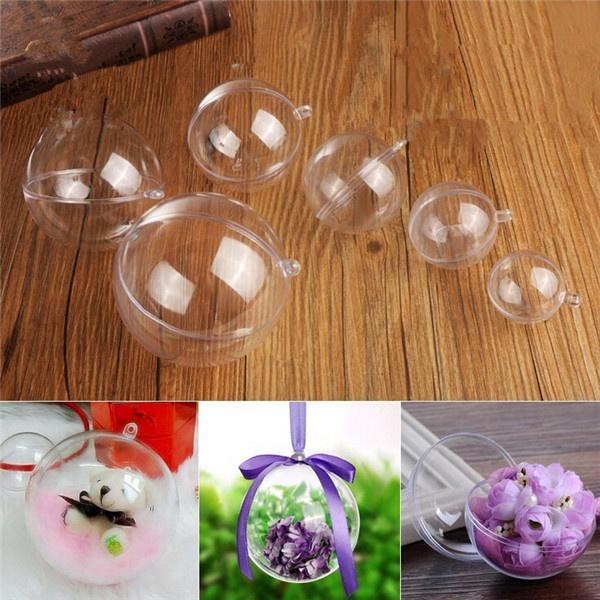 Plastic, decorationsball, transparentplasticball, Gifts