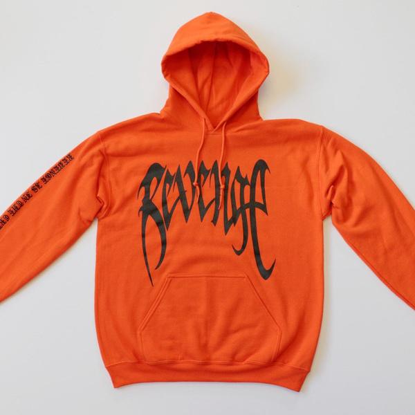 REVENGE 'KILL' HOODIE - MENS Orange Sweatshirt - XXXTentacion -Bad Vibes  Forever
