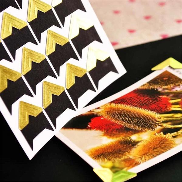 DIY Vintage Photo Corner Protectors Album Scrapbooking Picture Frame Stickers