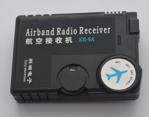 Air Band Radio Receiver 118MHz to 136MHz Aviation Band Receiver Airport  Ground