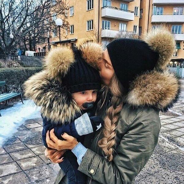 cute, Beanie, Fashion, fur