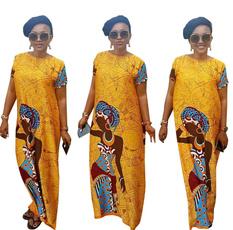 Summer, short sleeve dress, africanclothe, Necks